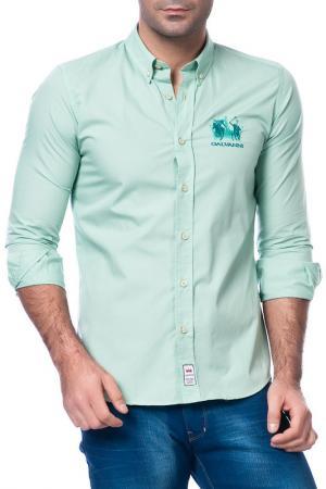 Рубашка Galvanni. Цвет: light turquoise