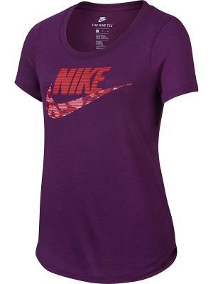Футболка G NSW TEE TRI SCOOP FUTURA Nike. Цвет: фиолетовый