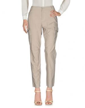 Повседневные брюки DENNY ROSE. Цвет: песочный