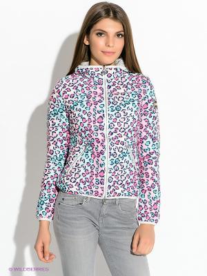 Куртка Colmar. Цвет: белый, бледно-розовый, бирюзовый