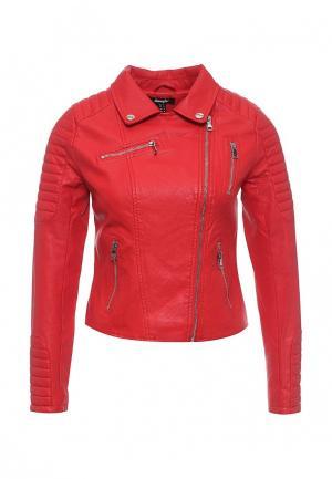 Куртка кожаная Jennyfer. Цвет: красный