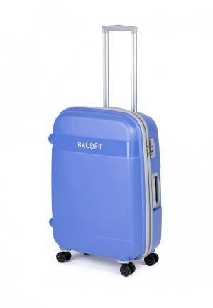 Чемодан Baudet. Цвет: голубой