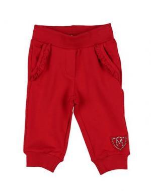 Повседневные брюки MONNALISA BEBE'. Цвет: красный