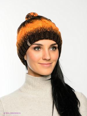Шапка FOMAS. Цвет: оранжевый, темно-коричневый