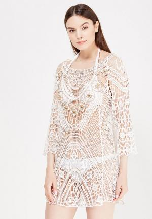 Платье пляжное River Island. Цвет: белый