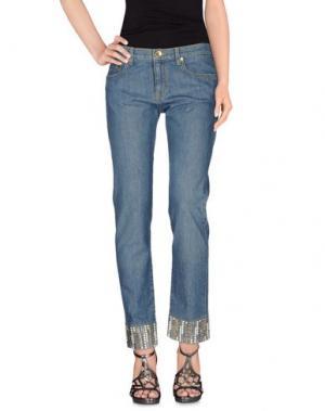 Джинсовые брюки DANIELA DREI. Цвет: синий