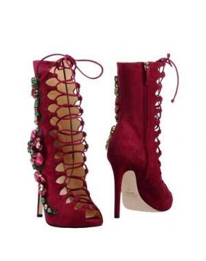 Полусапоги и высокие ботинки GEDEBE. Цвет: пурпурный