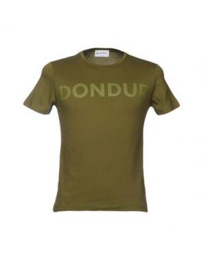 Футболка DONDUP. Цвет: зеленый-милитари