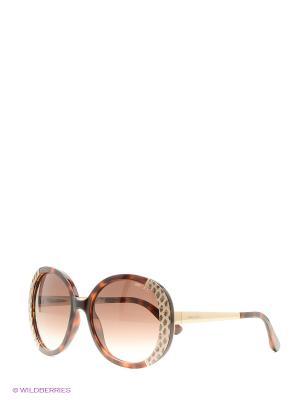 Солнцезащитные очки JIMMY CHOO. Цвет: коричневый, черный