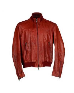 Куртка COMPAGNIA DELLE PELLI. Цвет: красный