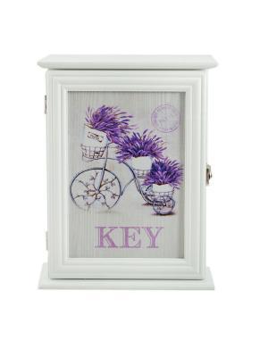Ключница Лаванда Русские подарки. Цвет: фиолетовый, белый, кремовый
