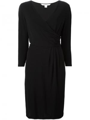 Приталенное платье c V-образным вырезом Diane Von Furstenberg. Цвет: чёрный