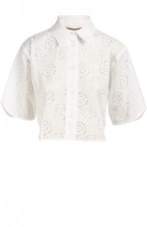 Блуза Christopher Kane. Цвет: белый