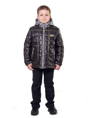 Куртка SAIMA. Цвет: черный, серый