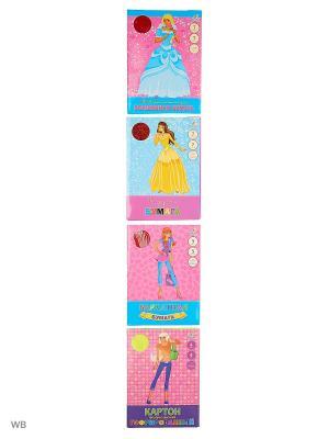 Набор для творчества №1 КОМПЛЕКТЫ Канц-Эксмо. Цвет: голубой, розовый