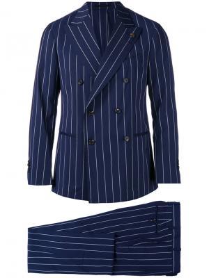 Pinstripe two piece suit Gabriele Pasini. Цвет: синий
