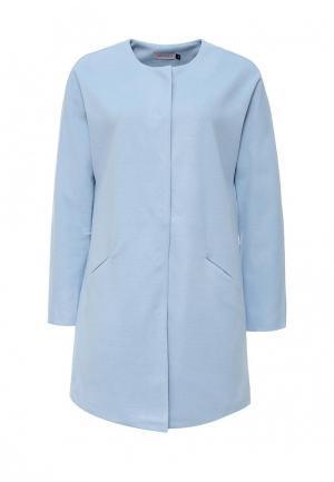 Пальто LAMANIA. Цвет: голубой