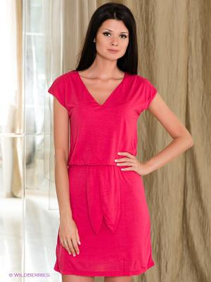 Платье Fairly. Цвет: фуксия