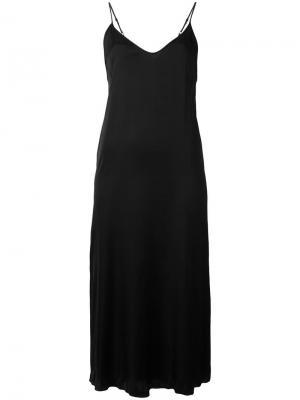 Платье-комбинация Raquel Allegra. Цвет: чёрный