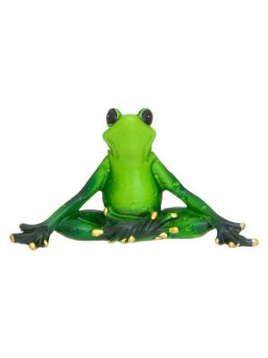 Фигурка декоративная Лягушка - йог Elan Gallery. Цвет: зеленый