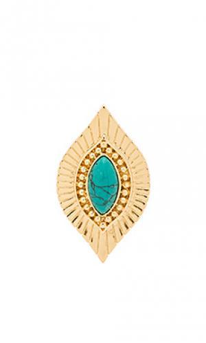 Кольцо Ettika. Цвет: металлический золотой