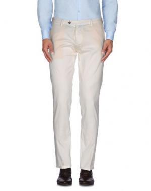 Повседневные брюки ROBERTO PEPE. Цвет: белый