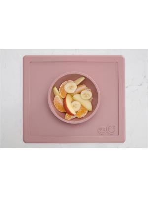 Тарелка с подставкой Ezpz Happy Bowl Blush. Цвет: бледно-розовый