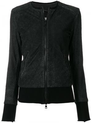 Куртка-бомбер без воротника Giorgio Brato. Цвет: чёрный