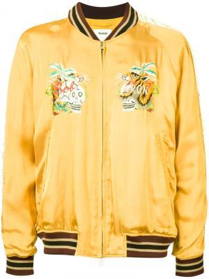 Куртка с вышивкой Doublet. Цвет: жёлтый и оранжевый