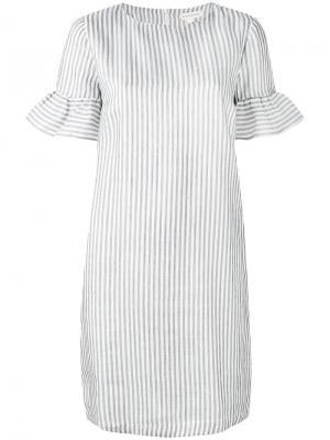 Платье в полоску Chinti And Parker. Цвет: белый