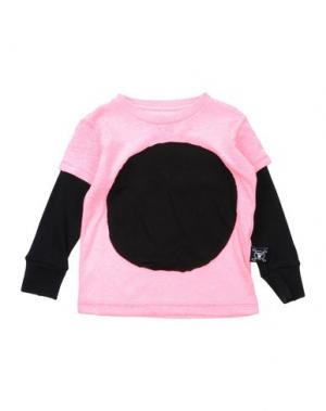Футболка NUNUNU. Цвет: розовый