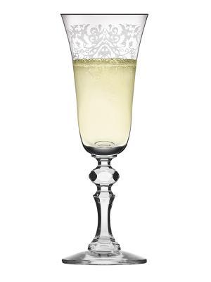 Набор бокалов для шампанского Krista deco (6 шт.) Krosno. Цвет: прозрачный