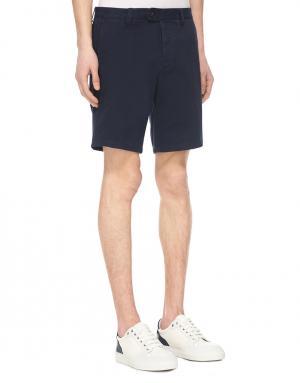 Хлопковые шорты Ami. Цвет: синий