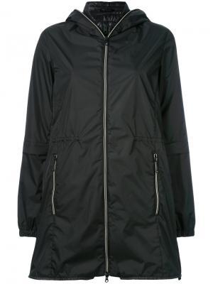 Многослойная куртка с капюшоном Duvetica. Цвет: чёрный