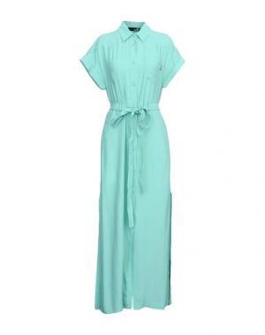 Длинное платье LOVE MOSCHINO. Цвет: светло-зеленый