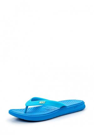 Сланцы Nike. Цвет: голубой