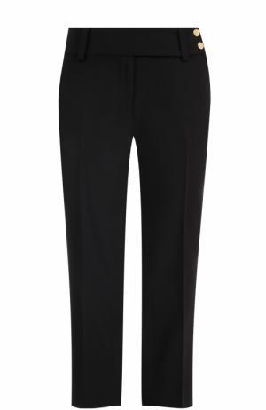 Укороченные брюки прямого кроя со стрелками MICHAEL Kors. Цвет: черный