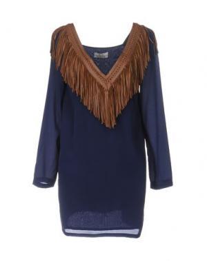 Блузка ELLA LUNA. Цвет: темно-синий
