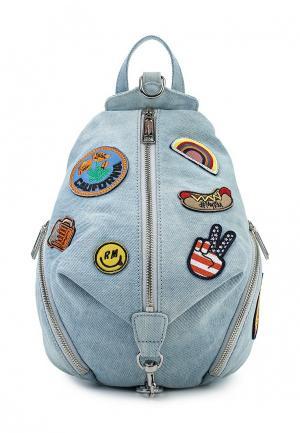 Рюкзак Rebecca Minkoff. Цвет: голубой
