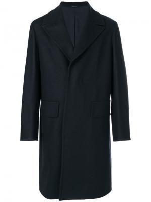 Пальто свободного кроя Jil Sander. Цвет: синий