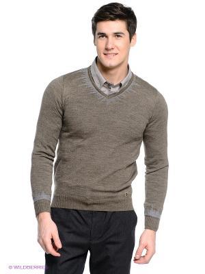 Пуловер Primo Emporio. Цвет: серо-коричневый