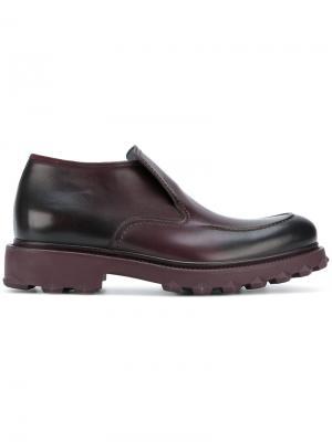 Туфли с шипованной подошвой Salvatore Ferragamo. Цвет: розовый и фиолетовый