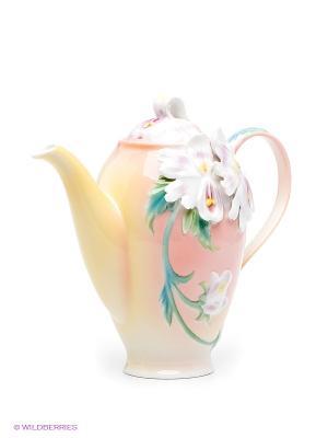 Заварочный чайник Сальпиглоссис Pavone. Цвет: персиковый, желтый