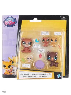 Лпс мини-набор зверюшек в ассортименте Littlest Pet Shop. Цвет: светло-коричневый