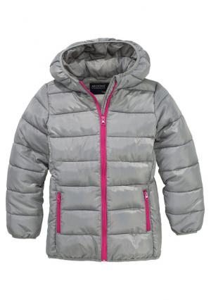 Стеганая куртка Arizona. Цвет: серый, темно-синий, цвет лайма