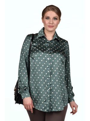 Блузка SPARADA. Цвет: зеленый, белый