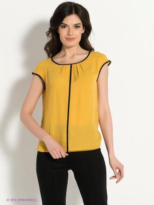 Блузка Pompa. Цвет: желтый
