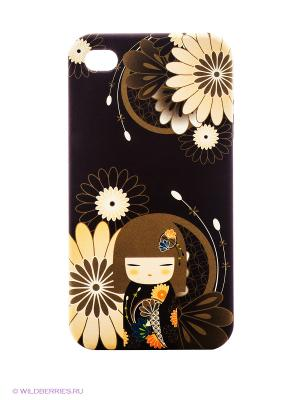Чехол для iPhone 4/4s Kimmidoll. Цвет: темно-коричневый, бежевый