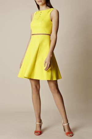 Платье Karen Millen. Цвет: желтый