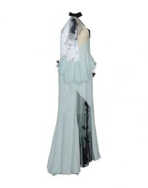 Длинное платье DANIELE CARLOTTA. Цвет: светло-зеленый